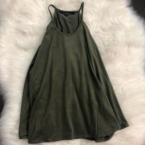 Hot Miami Styles olive green flowy tank top